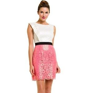 Lilly Pulitzer Delila Dress - Pink/White Lace